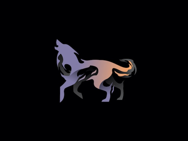 Logo lupo moderno unico. semplice