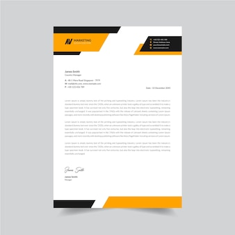 Modello di design di carta intestata aziendale unico ed elegante vettore premium