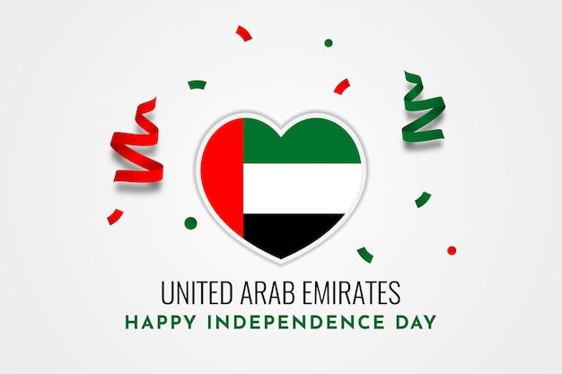 Progettazione del modello dell'illustrazione di giorno di indipendenza degli emirati arabi uniti