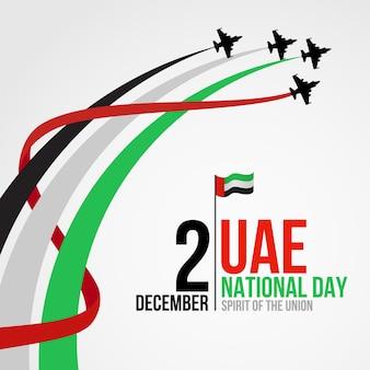 Sfondo di giorno nazionale degli emirati arabi uniti