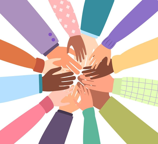 Comunità unita del mondo diverse nazionalità insieme per l'unità o la diversità del lavoro di squadra
