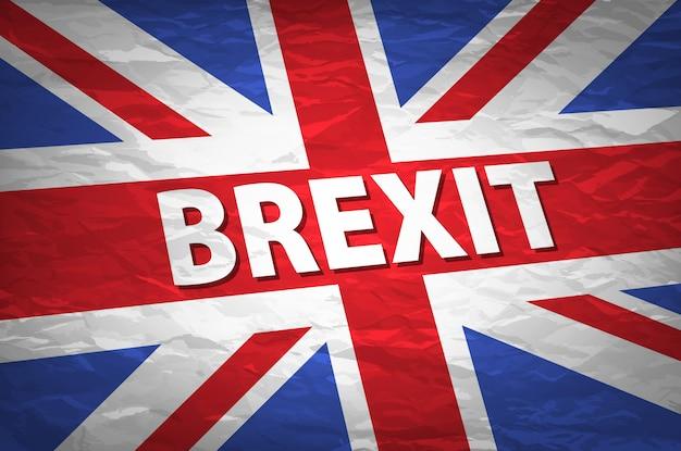 Uscita del regno unito dall'immagine relativa dell'europa. la brexit ha chiamato il processo politico. tema referendum