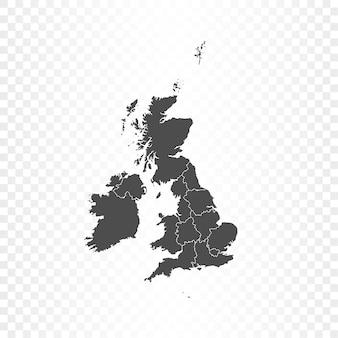 Regno unito mappa rendering isolato