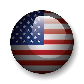 Emblema del pulsante stati uniti d'america