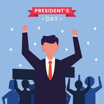 Stati uniti d'america, concetto di giorno del presidente.