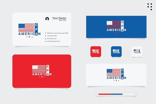 Bandiera degli stati uniti. logo americano. segno strutturato antico. fabbricato negli usa.