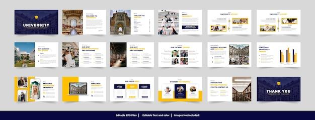Progettazione del modello di presentazione dell'università e dell'istruzione