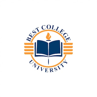 Concetto di logo dell'università. modello di logo dell'università
