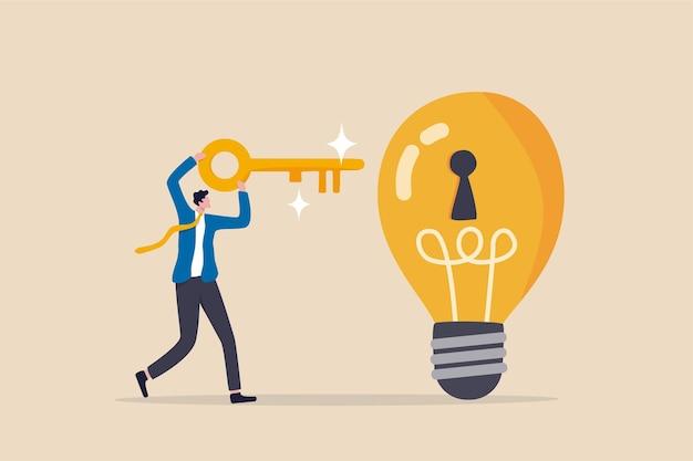 Sblocca una nuova idea imprenditoriale, inventa un nuovo prodotto o un concetto di creatività.