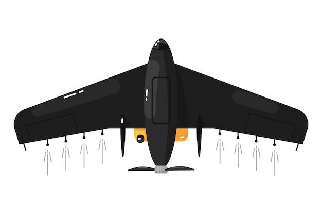 Aerei senza pilota. drone aereo Vettore Premium
