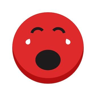 Emoji indicibile isolato su sfondo dolore faccia icona simbolo pauroso illustrazione vettoriale eps