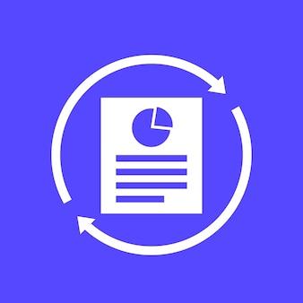 Aggiorna report, icona documento per il web