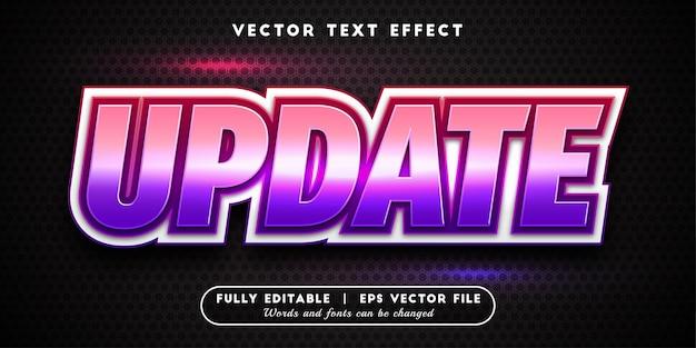 Aggiorna l'effetto del testo, lo stile del testo modificabile