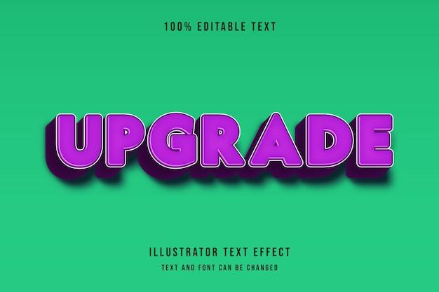 Aggiornamento, 3d stile di testo modificabile effetto viola modello moderno ombra stile comico