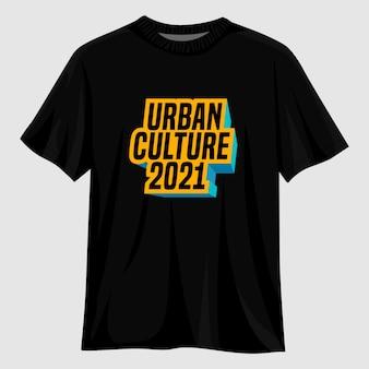 Design della maglietta della cultura urbana