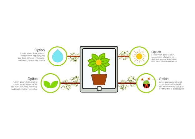 Progettazione dell'illustrazione dell'agricoltura urbana concetto di progettazione dell'illustrazione della tecnologia agricola