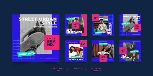 Post sui social media banner streetwear moda urbana