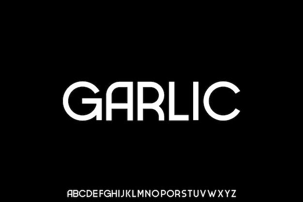 Carattere tipografico di alfabeto di carattere urbano