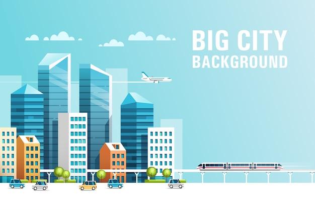 Paesaggio urbano con edifici