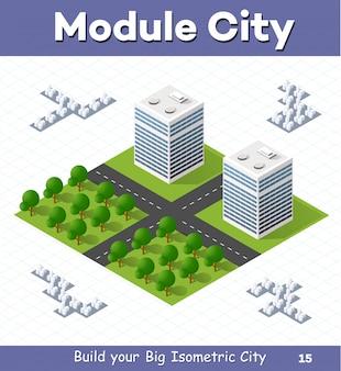 Modulo urbano per la costruzione e la progettazione di grandi città isometriche
