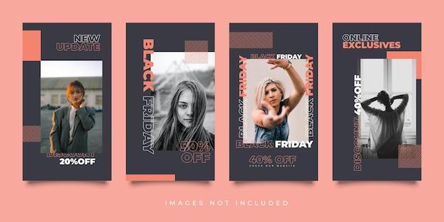 Modello di venerdì nero di storie di media sociali urbani