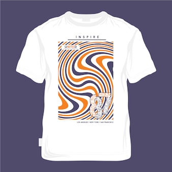 Maglietta urbana dal design di colore freddo