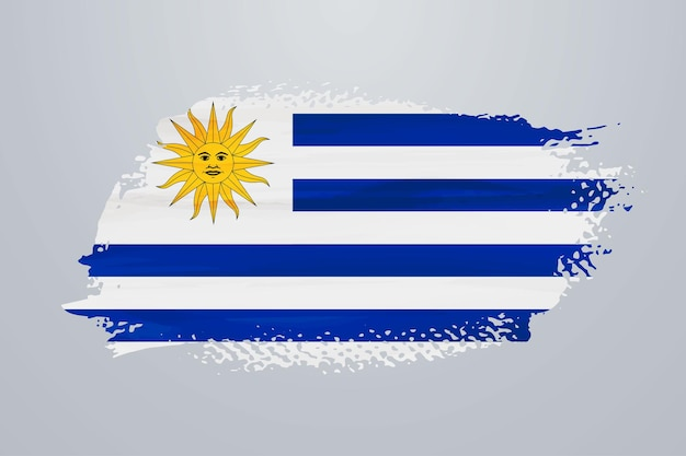 Bandiera uruguay vernice pennello