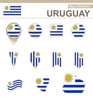 Collezione di bandiere dell'uruguay, 12 versioni