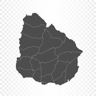 Rendering isolato mappa uruguay