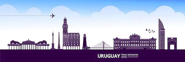 Uruguay destinazione di viaggio illustrazione vettoriale.