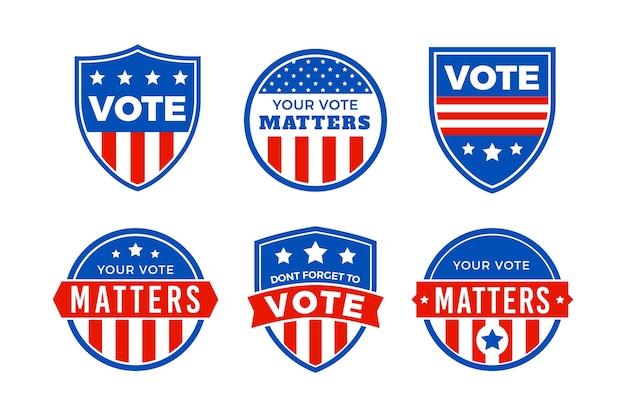 Pacchetto logo elezioni presidenziali degli stati uniti