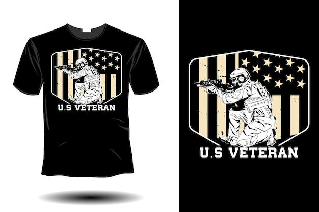Noi veterano mockup design vintage retrò