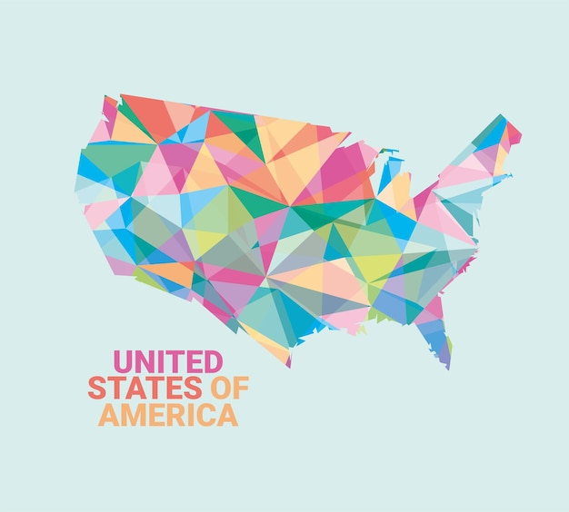 Mappa delle gemme colorate degli stati uniti