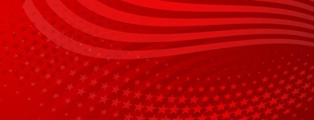 Fondo astratto di festa dell'indipendenza degli stati uniti con gli elementi della bandiera americana nei colori rossi