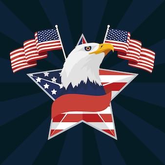 Emblema del giorno dell'indipendenza degli stati uniti