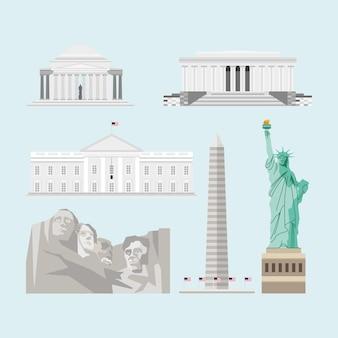 Gli stati uniti hanno fissato monumenti famosi punti di riferimento
