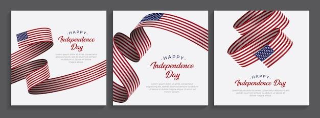 Stati uniti d'america, bandiera felice giorno dell'indipendenza degli stati uniti d'america, illustrazione