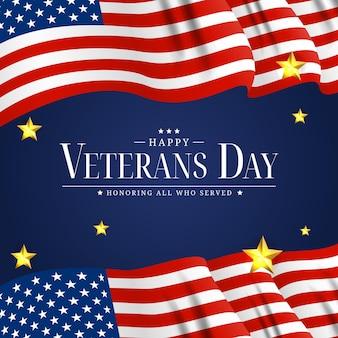 Poster del giorno dei veterani degli stati uniti. illustrazione di vettore. eps10