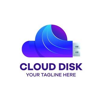 Usb disk cloud logo colorato modello