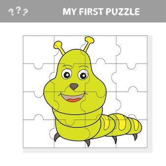Usa il puzzle e ripristina l'immagine. gioco di carta per bambini. il livello facile. il mio primo puzzle