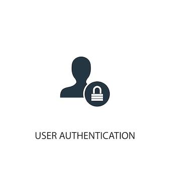 Icona di autenticazione utente. illustrazione semplice dell'elemento. progettazione di simboli di concetto di autenticazione dell'utente. può essere utilizzato per web e mobile.