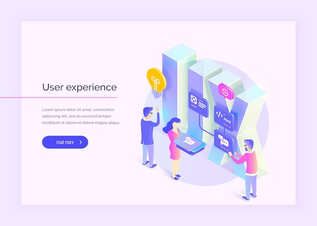 Esperienza utente le persone interagiscono con parti dell'interfaccia