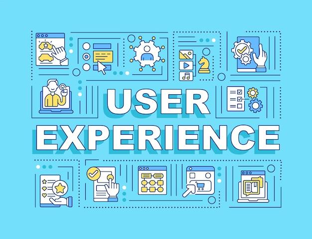 Banner di concetti di parola esperienza utente