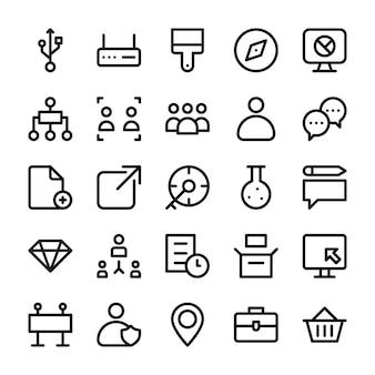 Icone di linea dell'interfaccia utente