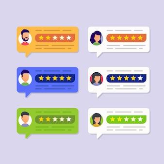 Recensioni degli utenti e concetto di valutazione dell'esperienza di feedback dei clienti