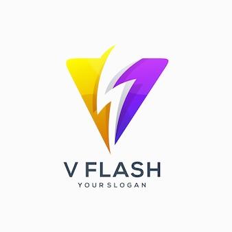 V fulmine elettrico flash idea fulmine