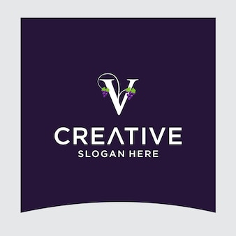 Disegno del logo dell'uva v
