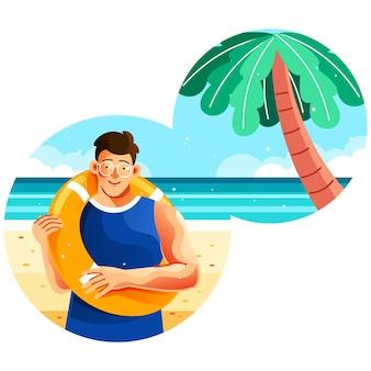 Vacanza al mare in estate