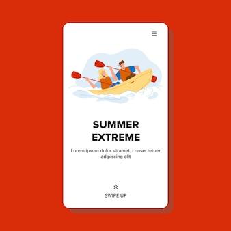 Vacanze estive estreme in kayak sul fiume