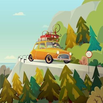 Vacanze questa estate goditela illustrazione di viaggio